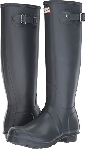 Hunter Women's Original Tall Dk Slate Rain Boots - 8 B(M) US