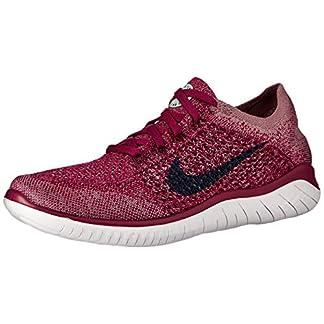 Nike Free RN Flyknit 2018 Women's Running Shoe Raspberry RED/Blue Void-White-Teal Tint 9.0