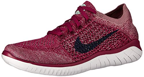 Nike Free RN Flyknit 2018 Women's Running Shoe Raspberry RED/Blue Void-White-Teal Tint 9.0