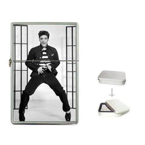 New Product ELVIS PRESLEY JAILHOUSE ROCK SWIVEL Flip Top Cigarette Lighter + free Case Box
