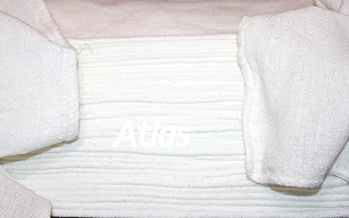 Atlas Brand 1150 Pieces White 100% Cotton Shop Towel Rags, Industrial Grade, New Shop Towels for cleaning, wiping by Atlas