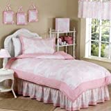 Sweet Jojo Designs 3-Piece Pink French Toile Children's and Teen Full / Queen Girls Bedding Set