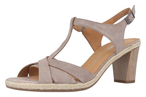 GABOR comfort - Damen Sandaletten - Grau Schuhe in Übergrößen