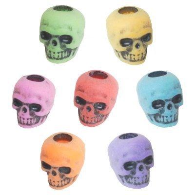 Multi-Colored Skull Beads
