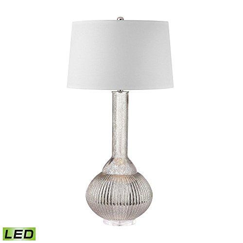 Bellacor Table Lamp Jar - Elk Lighting D2868-LED Juju Jar LED Lamp in Antique Mercury Clear, Silver