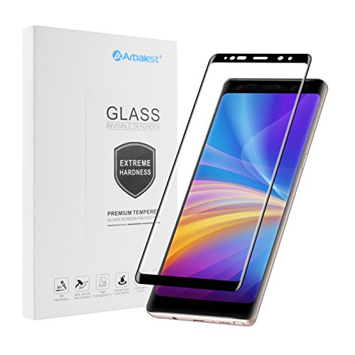 Galaxy Note 8 Screen Protector, Arbalest 3D Curved Coverage / Anti-Scratch / HD Clear / 9H Hardness Tempered Glass Screen Protector Film for Samsung Galaxy Note 8 [Case Friendly]