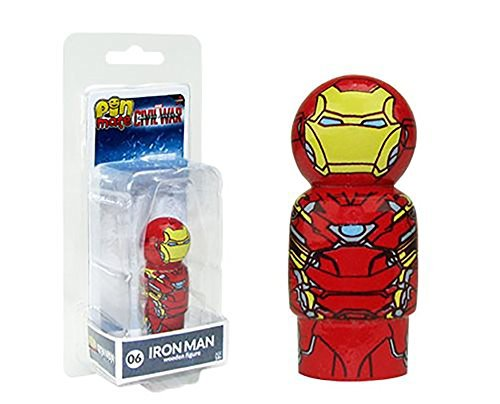 Bif Bang Pow! Captain America Civil War Iron Man Masked Pin Mate Wooden Figure