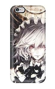 5514865K786431048 touhou maids izayoi sakuya braids band Anime Pop Culture Hard Plastic iPhone 6 Plus cases