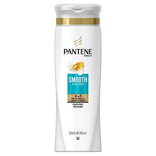 Moisturizing Conditioner Shampoo (Pantene Pro-V Smooth & Sleek 2 in 1 Shampoo & Conditioner, 12.6 fl oz(Packaging May Vary))