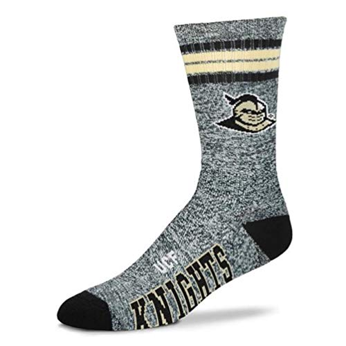 For Bare Feet NCAA Got Marbled Men's Crew Socks Size Large - UCF University Central Florida Golden Knights
