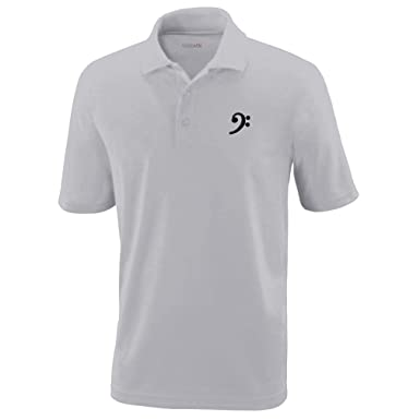 3b0df8cf8d934 Amazon.com: Polo Performance Shirt Black Bass Clef Black Embroidery ...