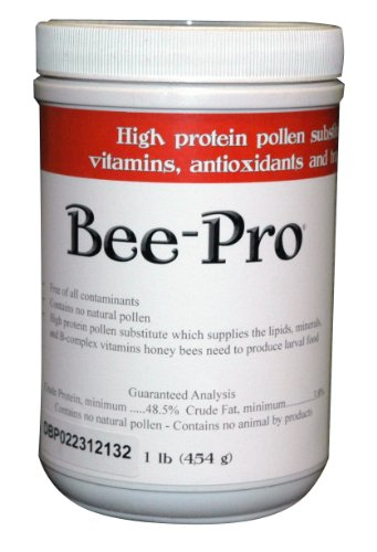 Mann Lake FD203 Bee-Pro Pollen Substitute Canister, 1-Pound 41Y0yJ72s8L