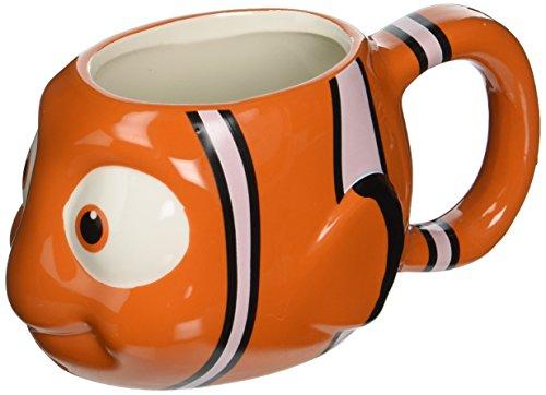 Zak Designs DRYC-8511 Finding Dory Nemo Ceramic sculpted Mug, Multicolor
