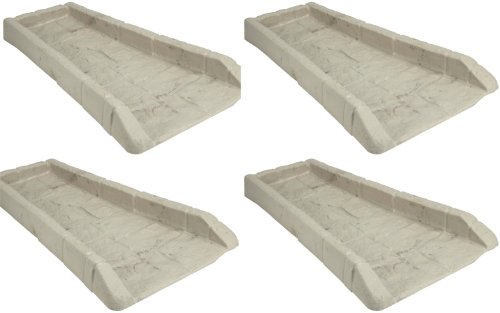4 Pack Suncast SB24 Decorative Rain Gutter Downspout Splash Block- Light Taupe