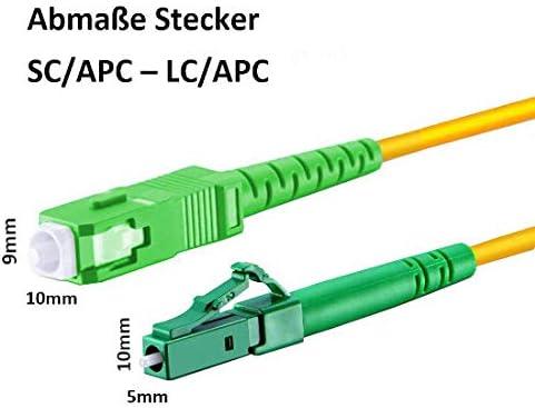 Lwl Glasfaser Kabel 10m Os2 Gelb Lc Apc Auf Sc Elektronik