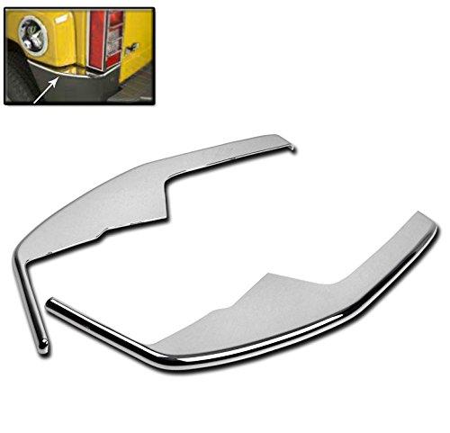 ZMAUTOPARTS Hummer H3 Rear Bumper Corner Cover Trim Frame ABS Chrome Pair