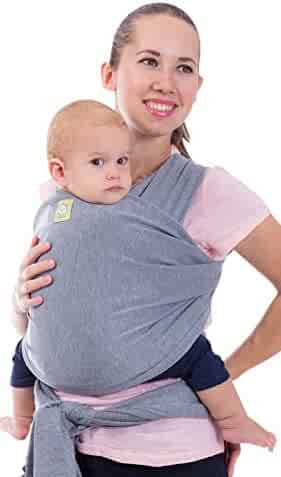 Baby Wrap - Baby Wrap Carrier by KeaBabies - 2 Colors - All-in-1 Baby Sling - Newborn Baby Wraps - Infant Carrier - Babys Wrap - Stretchy Babies Carrier Wrap | Great Baby Shower Gift (Grey)