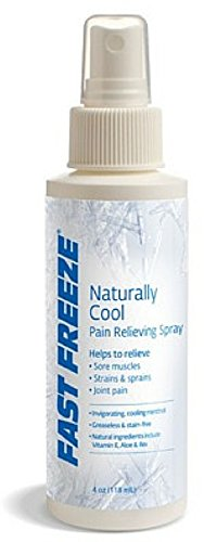 Fast Freeze Pain Relief Spray 4 oz (Pack of 2)