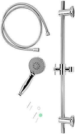 Columna de ducha en INOX con tubo flexible y mango de ducha con 3 ...