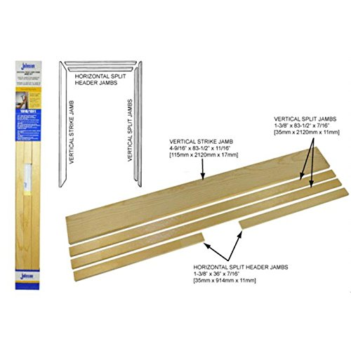 johnson hardware universal pocket door jamb kit 15113068 household door frames amazoncom