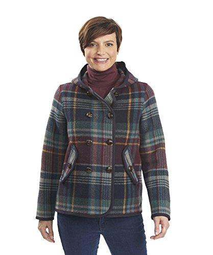 Woolrich 15438 Womens Century Wl Pld PCoat, Navy - (Woolrich Wool Blazer)
