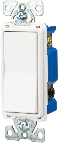 Eaton 7504W-SP-L 15-Amp, 120-Volt Standard Grade 4-Way Decorator Switch, White ()