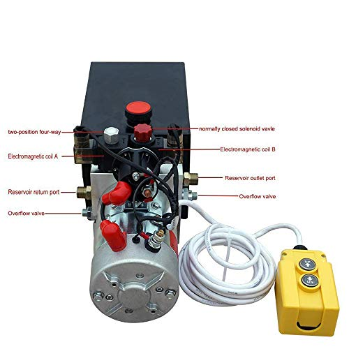 New 12V Hydraulic Pump /Hydraulic power unit/Electric dump trailer power unit (Double Acting 6 Quart )