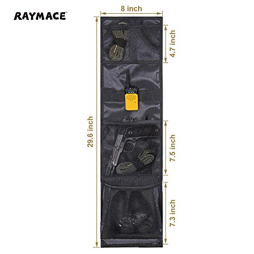 Raymace Door Organizer Door Panel for Gun Safe, Gun Cabinet, Closet, Height 10 Inch Black