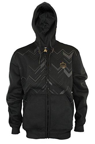 Signature Full Zip Hoody - NBA Men's Signature Black and Gold Full Zip Hoodie - Several Team Options (New Orleans Pelicans, L)