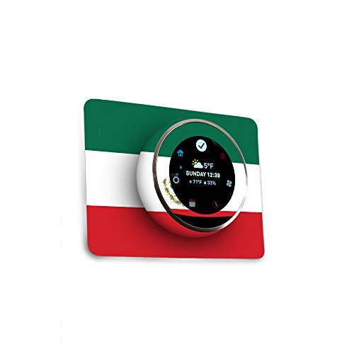 MightySkins Skin for Nest Thermostat - Mexican Flag | Protective, Durable, and Unique Vinyl Decal wrap Cover | Easy to Apply, Remove, and Change Styles | Made in The USA