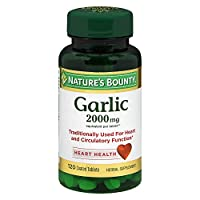 Nature's Bounty Odor Free Garlic 2000 mg Tablets - 120, Pack of 2