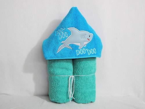 Doo Doo Doo Baby Shark Hooded Bath Towel - Baby, Child, -