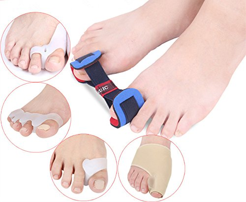 5pcs Bunion Corrector Set Toe Separator Silicone Braces Thumb Valgus Protector Bunion Adjuster Foot Care Tool by TanQiang