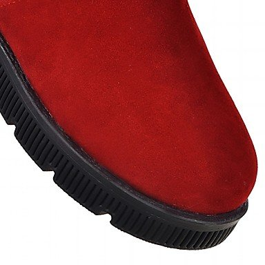 Heart&M Damen Schuhe Spandex Frühling Herbst Modische Stiefel Stiefel Keilabsatz Runde Zehe Booties Stiefeletten Schleife Für Normal Schwarz beige