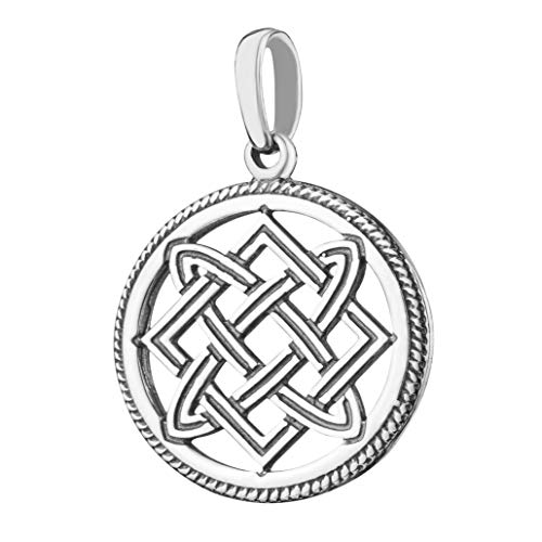 (Celtic Endless Infinity Knot Circle of Life Sterling Silver Pendant Necklace Lada Star Ancient Powerful Amulet for Women Handmade Wiccan Slavic Pagan Jewelry Friendship Gift for 4 )