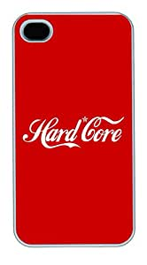Hard Core Red PC Case Cover for iPhone 4S and iPhone 4 White