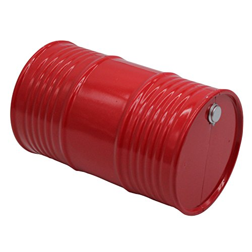 LAFEINA Plastic Oil Drum Fuel Tank Container 1/10 Scale Accessories for 1:10 RC Rock Crawler Axial SCX10 Tamiya CC01 RC4WD D90 D110 RC Truck Decor Parts (Red)