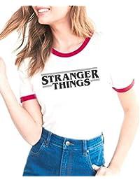 ZAWAPEMIA Playera de Manga Corta para Mujer con diseño de Stranger Things