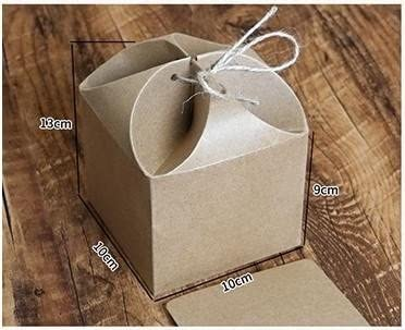 100 x Cinta Papel Kraft caja con caja de embalaje caja de regalo vela caja de presentación) – 10 x 10 x 13 cm: Amazon.es: Hogar