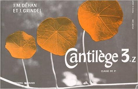 Lire en ligne Cantilège 3Z, 4e epub, pdf