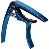 QOOKR Guitar Capo, A-alloy (1 oz) Professional Live Stage Capo for Acoustic Guitar Instruments (Blue)