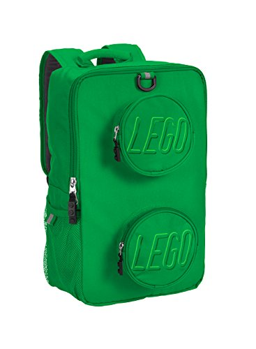 LEGO Kids Brick Backpack, Green, One Size