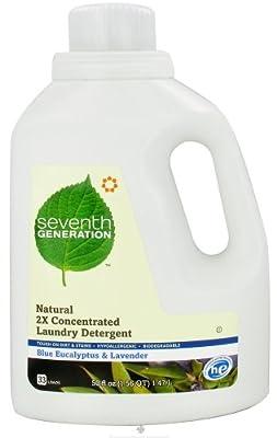 Seventh Generation - Natural Liquid Laundry Detergent 33 Loads Lavender & Blue