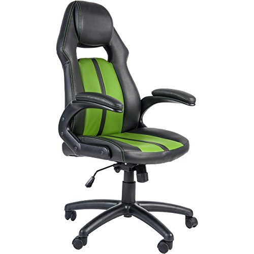 41Y12qv1aNL - Merax-Ergonomic-Racing-Style-PU-Leather-Gaming-Chair-for-Home-and-Office-Green