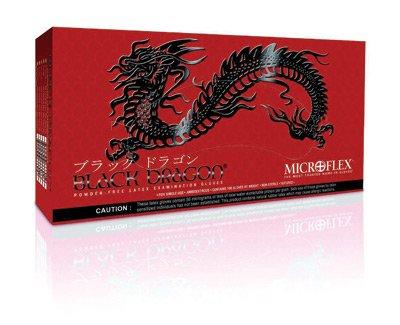 Microflex - Black Dragon Latex Gloves - Case Size Medium