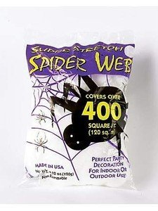 giant spider web 400 sq ft halloween decoration prop by palmers - Spider Web Decoration
