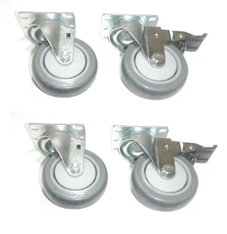 Clearance Set of 4 Plate Casters with 4