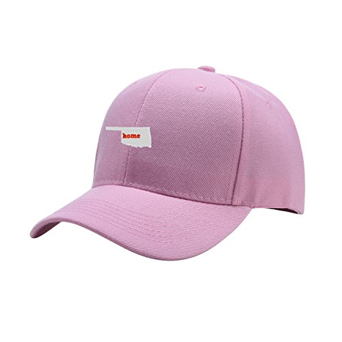 Home Pink Peaked Hat Embroidered Logo Adjustable Dad Cap
