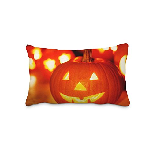 Festival Halloween Pillow Case Cover Queen Standard Size 2017 Pillow Protector 16x24inch(Twin Sides)With Hidden Zipper ()