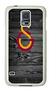 Samsung Galaxy S5 Case, Galaxy S5 Cover - Gs Logo PC Plastic Hard Shell Case Snap On Back Cover for Samsung Galaxy S5 I9600 White
